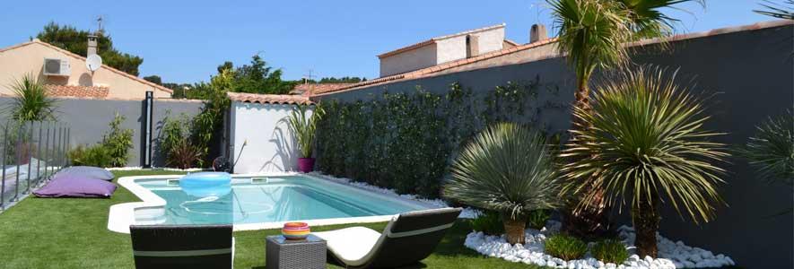 désagrément d Une maison avec jardin et piscine